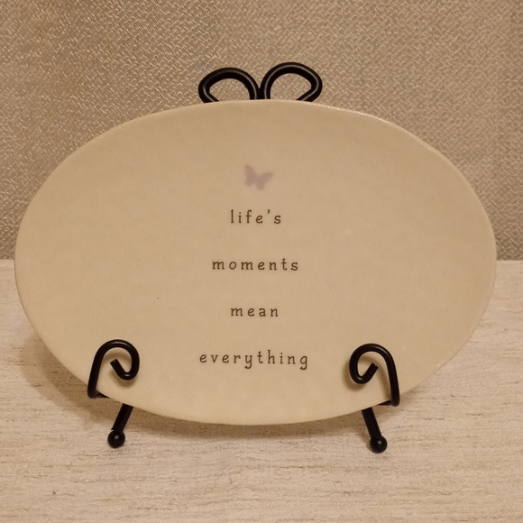 Inspirational Decorative Plate With Display Easel